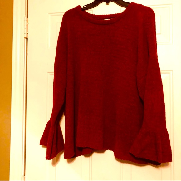 Burgundy Knox Rose Really Soft Long Sleeve Sweater